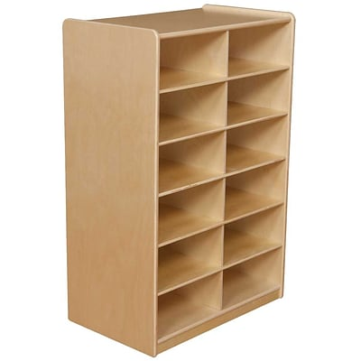Wood Designs™ 12 - 5 Letter Tray Storage Unit Without Trays, Birch