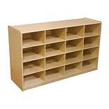 Wood Designs™ 16 - 5 Letter Tray Storage Unit Without Trays, Birch