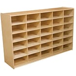 Wood Designs™ 30 - 5 Letter Tray Storage Unit Without Trays, Birch