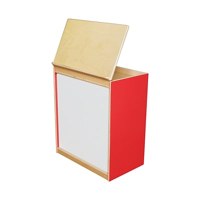 Wood Designs™ Literacy 25(H) Plywood Big Book Display and Storage W/Markerboard, Strawberry Red