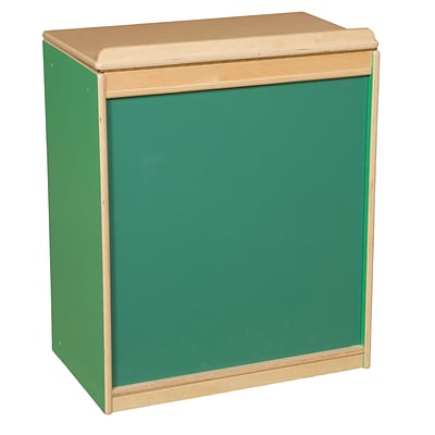 Wood Designs™ Literacy 25(H) Plywood Big Book Display and Storage W/Chalkboard, Green Apple