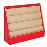 Wood Designs™ Literacy 29(H) Plywood Book Display Stand, Strawberry Red