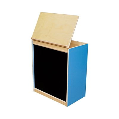 Wood Designs™ Literacy 28(H) Plywood Big Book Display and Storage W/Flannelboard, Blueberry