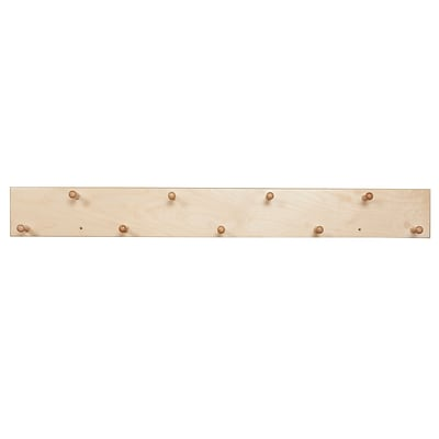 Wood Designs™ Hangup With 9 Maple Pegs, Birch
