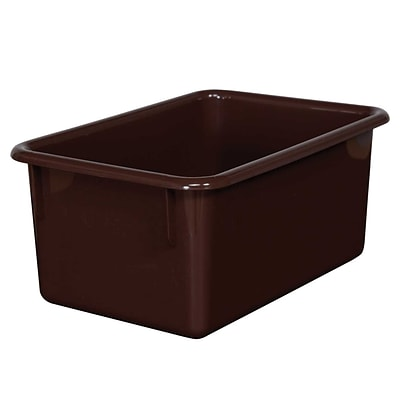 Wood Designs™ Plastic Cubby Tray, Brown