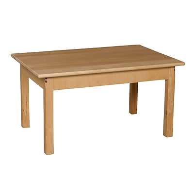 Wood Designs™ 24 x 36 Rectangle Hardwood Birch Activity Table With 20 Legs, Natural