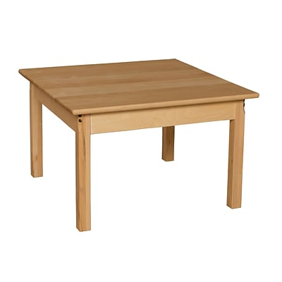 Wood Designs™ 30 Square Hardwood Birch Activity Table With 20 Legs, Natural