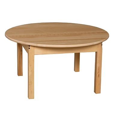 Wood Designs™ 36 Round Hardwood Birch Activity Table With 18 Legs, Natural