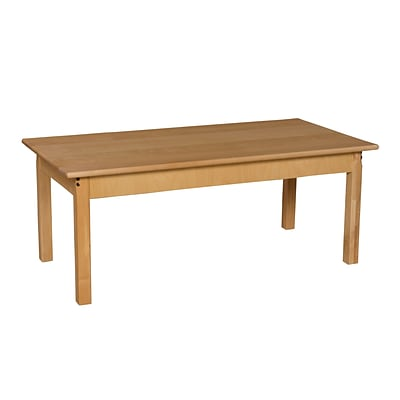 Wood Designs™ 24 x 48 Rectangle Hardwood Birch Activity Table With 18 Legs, Natural