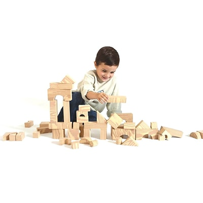 Edushape® Woodgrain Foam Blocks, 80 Pieces
