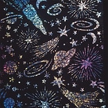 Melissa & Doug® 8 1/2 x 11 Holographic Sparkle Soft-Scratch Glitter Board, 30/Pack