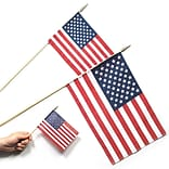 S&S® 12 x 18 Cotton US Flags, 12/Pack