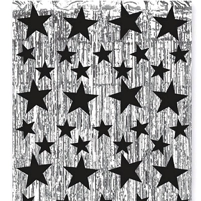 S&S® 8 x 3 Metallic Star Party Curtain