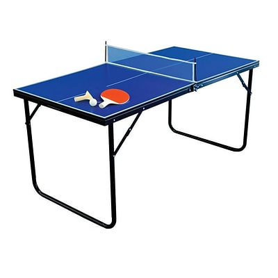 Park & Sun Sports® 28 x 30 x 60 Mini Table Tennis Table, Blue