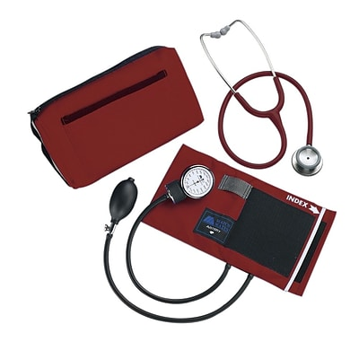 Mabis® MatchMates® Combination Kit, With 3M® Littmann® Classic II S.E. Stethoscope, Burgundy (12-260-071)
