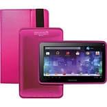 Visual Land® Prestige Pro 7D 7 8GB Android 4.1 Tablet With Folio Bundle; Magenta