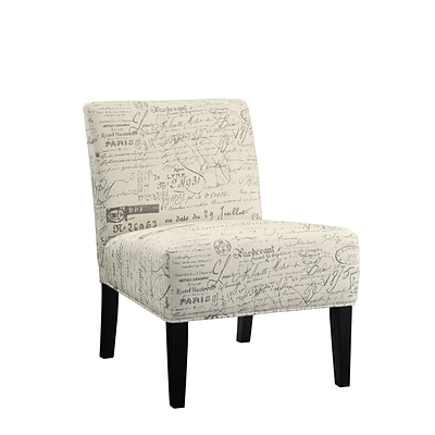 COASTER Wood & Fabric Contemporary Accent Chair Paisley