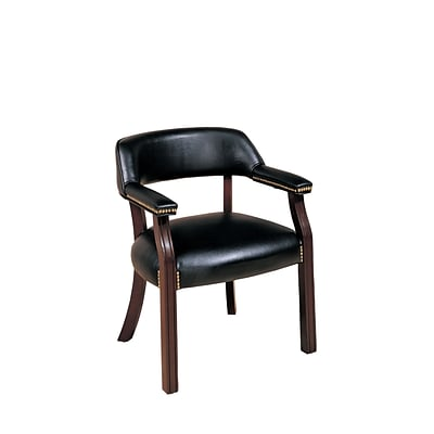 Coaster Leather Like Vinyl Captains Office Chair Black