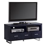 COASTER Wood and Wood Veneers 23.625H x 47.25W x 17.75D TV Stand Rich Black