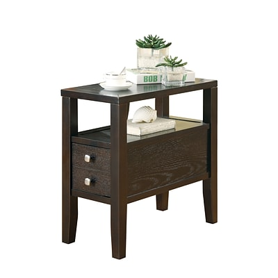 COASTER End Table Wood 24H x 12W x 24D Chairside Table