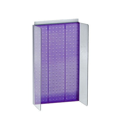 Azar Displays 13.5 x 22 Pegboard Powerwing Display Purple