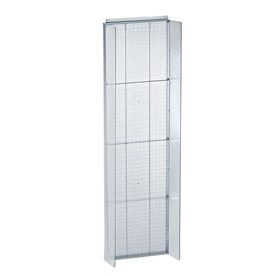 Azar Displays 16.75 x 60 Pegboard Powerwing Display Clear