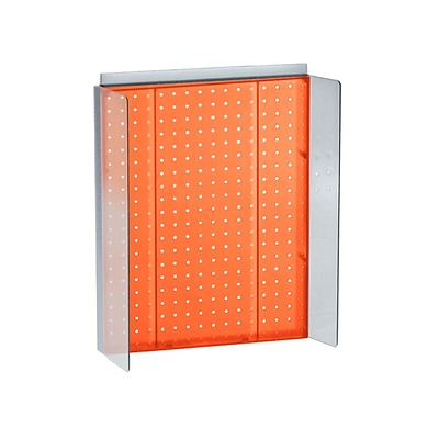 Azar Displays 16 x 20.25 Pegboard Powerwing Display Orange