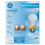 GE Reveal® General Purpose Halogen Light Bulbs, 72 Watt
