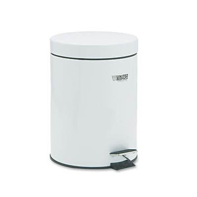 United Receptacle Medi-Can™ Steel Step Can; 1-1/2-Gallon, Powder Coated/White