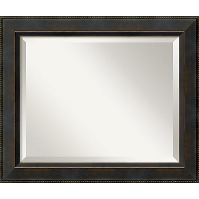 Amanti Art 24.38 x 20.38 Hemingway Medium Wall Mirror, Dark Bronze