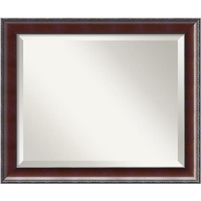 Amanti Art 23.38 x 19.38 Country Medium Wall Mirror, Walnut