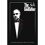 Amanti Art Godfather - Red Rose Framed Art, 37.38 x 25.38