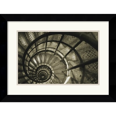 Amanti Art Christian Peacock Spiral Staircase in Arc de Triomphe Framed Print Art, 19.62 x 25.5