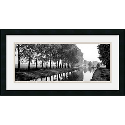 Amanti Art Basque Canal Framed Print Art, 14 x 26