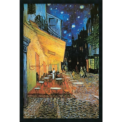 Amanti Art Vincent Van Gogh Cafe Terrace At Night, 1888 Framed Print Art, 37.38 x 25.38
