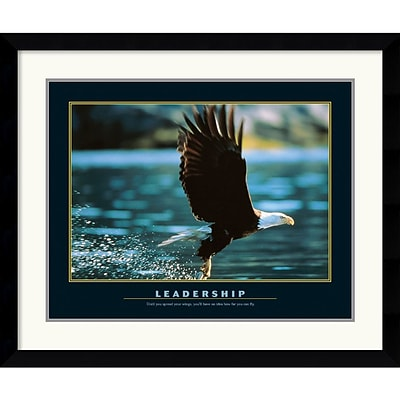 Amanti Art Leadership Framed Print Art, 30.62 x 36.62