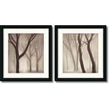 Amanti Art Gretchen Hess Forest Framed Print Art Set, 21.62 x 20