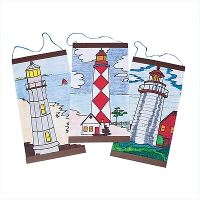 S&S Worldwide Lighthouse Panels Craft Kit; 24/Pack