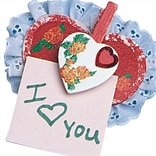 Geeperz™ Heart-To-Heart Note Holders Craft Kit, 24/Pack