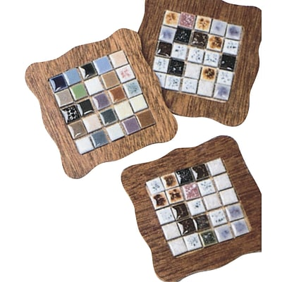 S&S Worldwide Tiny Tile Coasters Craft Kit, 16/Pack