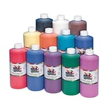 Color Splash® 32 oz. Liquid Tempera Paint; Washable, Assorted Colors, 12/Pack
