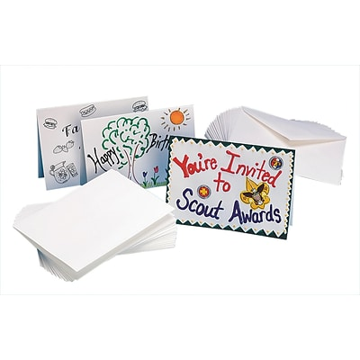 S&S® 5 x 7 Blank Cards and Envelopes, 100/Pack