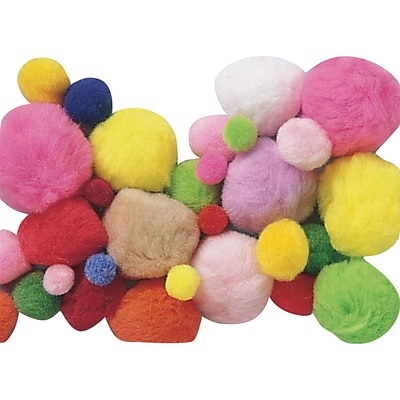 S&S® 1 lbs. Assorted Size and Colors Pom Poms