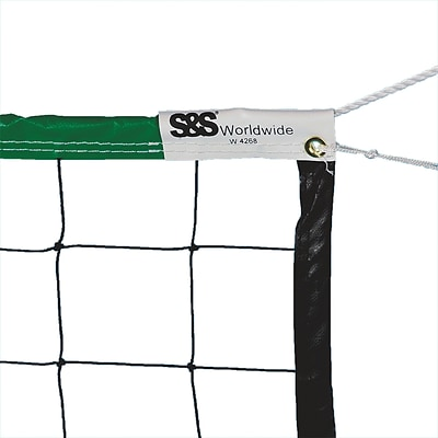 S&S® School/Recreation Official Neon Green Volleyball Net