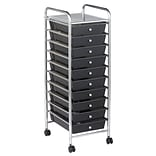 ECR4®Kids 10 Drawer Plastic Mobile Organizer, Smoke