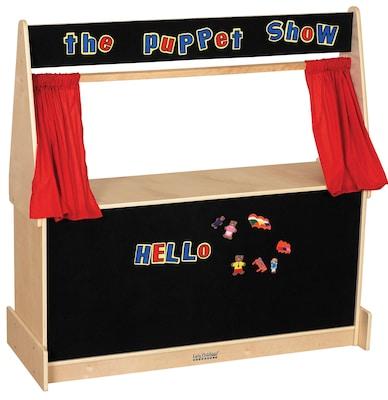 ECR4 Kids(r) Hardwood Puppet Theater With Black