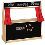 ECR4 Kids® Hardwood Puppet Theater With Black Flannel