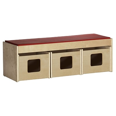 ECR4®Kids See and Store™ Wood Classroom Bench