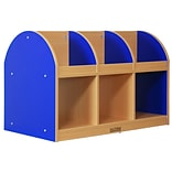 ECR4®Kids Colorful Essentials™ 2-Sided Toddler Book Stand, Blue