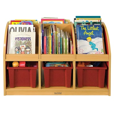ECR4®Kids Colorful Essentials™ 2-Sided Toddler Book Stand, Red